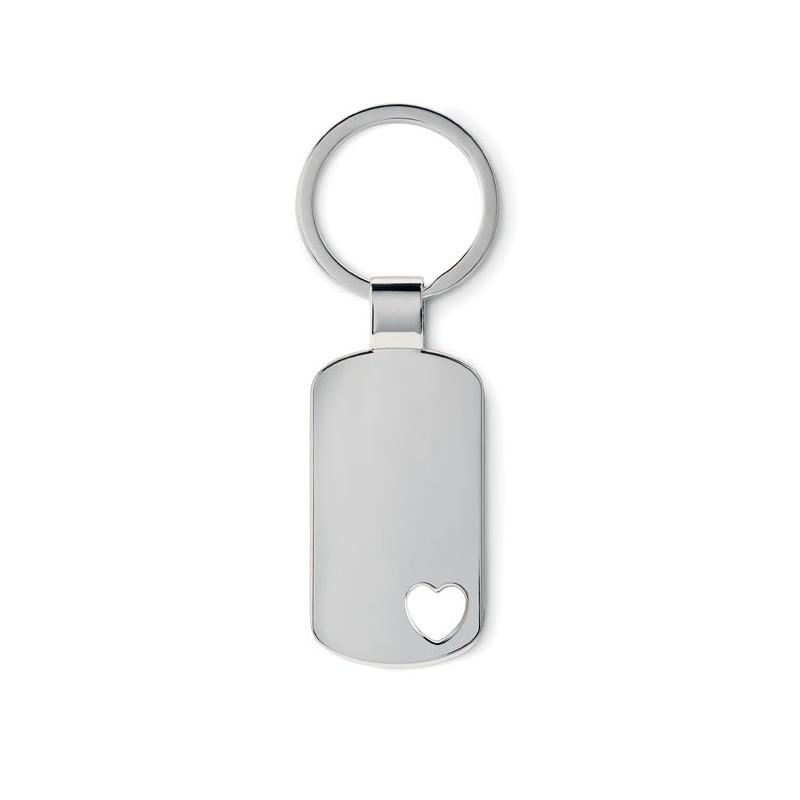 CORAZON - Breloc metalic cu motiv inimă  MO8694-16, Dull silver