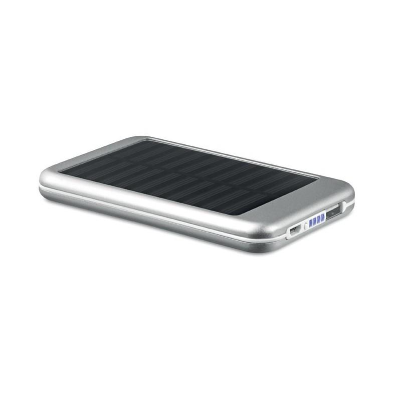 SOLARFLAT - Baterie externă solară 4000mAh MO9075-16, Dull silver