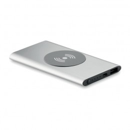 POWER&WIRELESS -  Powerbank Wireless de 4000mAh MO9498-16, Dull silver
