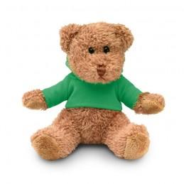 JOHNNY - Ursuleț din pluș cu tricou     MO7375-09, Green