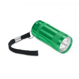 TEXAS - Mini-lanternă aluminiu+lanyard MO7680-09, Green