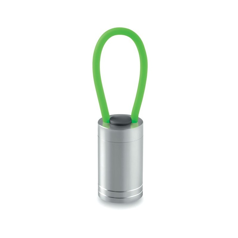 GLOW TORCH - Aluminium torch glow in dark   MO9152-09, Green