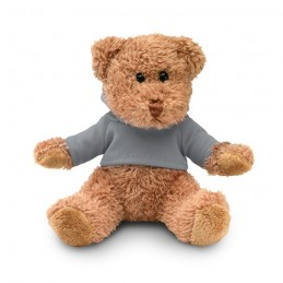 JOHNNY - Ursuleț din pluș cu tricou     MO7375-07, Grey
