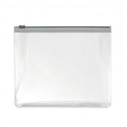 COSMOBAG - Husă cu fermoar pt. Cosmetice  MO9627-27, Transparent grey