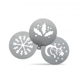 COFFEEDECO - Șablon metalic pentru cafea    CX1388-16, matt silver