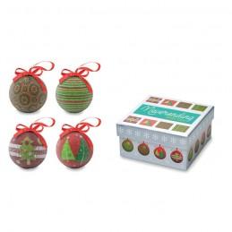 SQUARY - Set globuri Crăciun în cutie   CX1441-99, multicolour