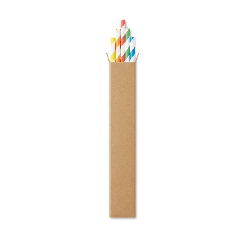 PAPER STRAW - Paie din hârtie, 10 buc        MO9795-99, Multicolour