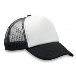 TRUCKER CAP - Şapcă din poliester (plasă, în MO8594-03, Negru