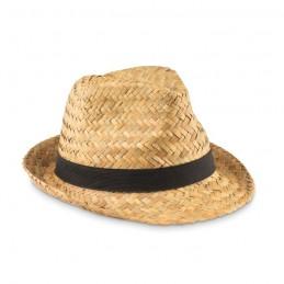 MONTEVIDEO - Pălărie din paie naturale      MO9844-03, Negru