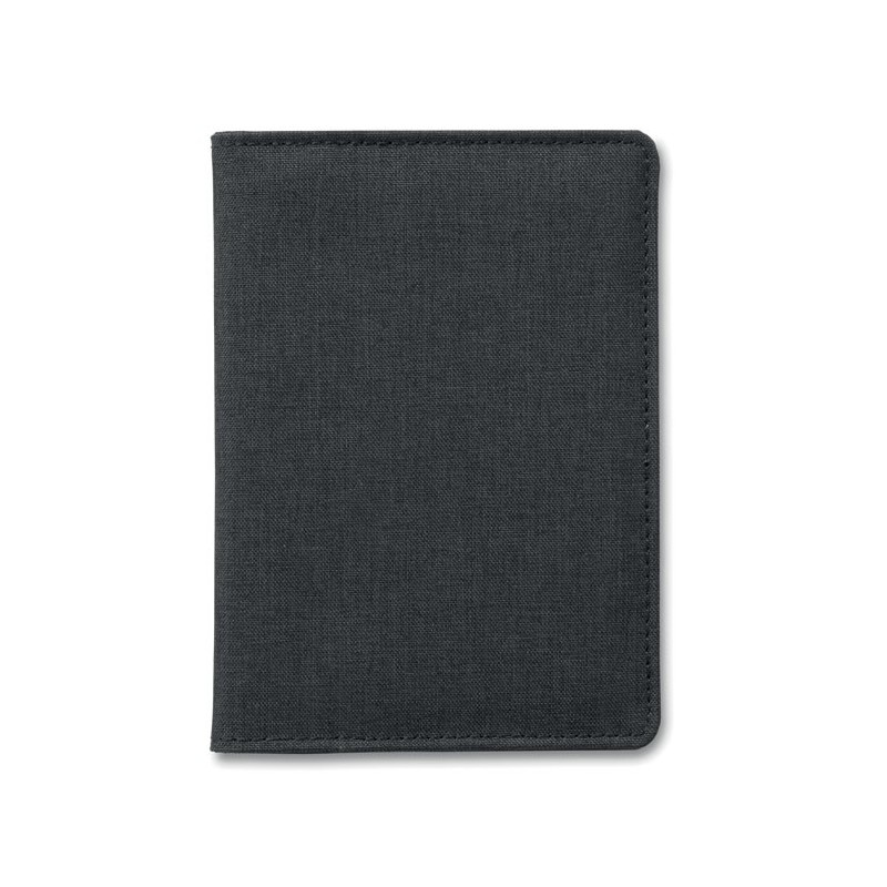 SHIELDOC - Portofel pașaport 2 nuanțe     MO9107-03, Negru