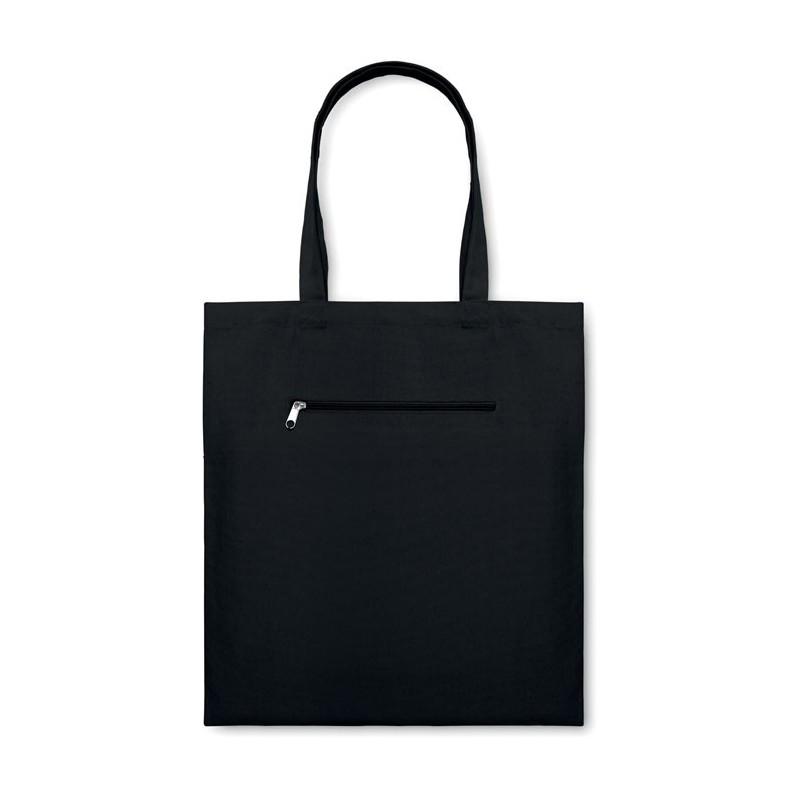 MOURA - Sacoşă cumpărături din pânză   MO8608-03, Negru