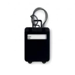 TRAVELLER - Etichetă bagaj din plastic     MO8718-03, Negru