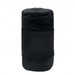 MUSALA RPET - Pătură de călătorie, lână RPET MO9935-03, Negru