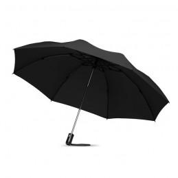 DUNDEE FOLDABLE - Umbrelă pliabilă reversibilă   MO9092-03, Negru