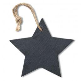 SLATESTAR - Ornament stea din ardezie      CX1434-03, Negru