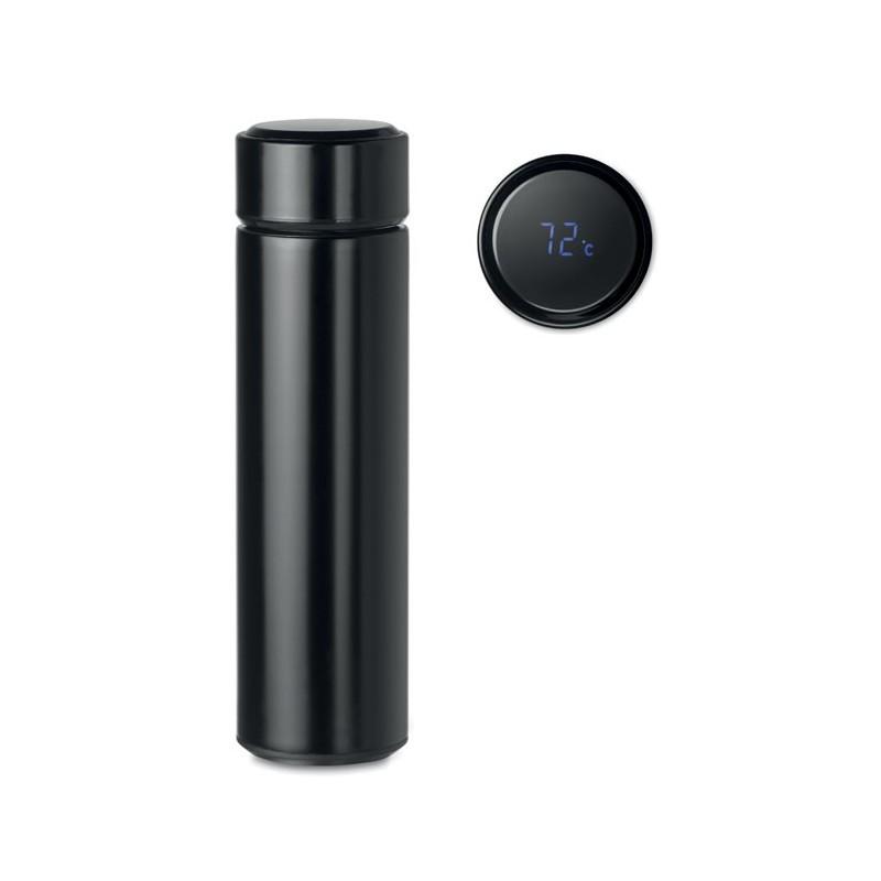 POLE - Sticlă cu termometru tactil    MO9796-03, Negru