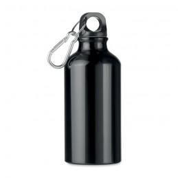 MID MOSS - Sticlă din aluminiu de 400 ml  MO9805-03, Negru