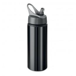 ATLANTA - Sticlă din aluminiu de 600 ml  MO9840-03, Negru