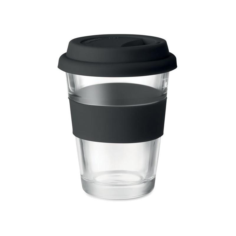 ASTOGLASS - Pahar din sticlă de 350 ml     MO9992-03, Negru
