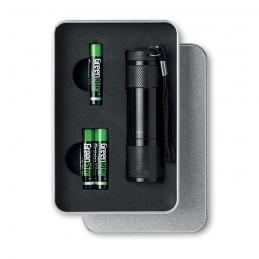 LED PLUS - Lanternă cu LED in cutie metal KC6860-03, Negru