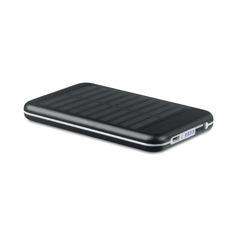 SOLARFLAT - Baterie externă solară 4000mAh MO9075-03, Negru