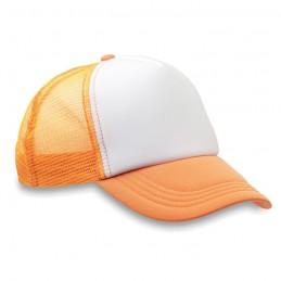 TRUCKER CAP - Şapcă din poliester (plasă, în MO8594-71, neon Portocaliu