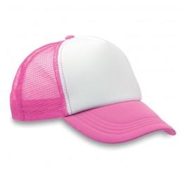 TRUCKER CAP - Şapcă din poliester (plasă, în MO8594-72, neon Roz