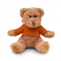 JOHNNY - Ursuleț din pluș cu tricou     MO7375-10, Portocaliu