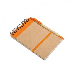 SONORA - Bloc notes reciclat și pix     IT3789-10, Portocaliu