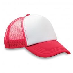 TRUCKER CAP - Şapcă din poliester (plasă, în MO8594-05, Rosu