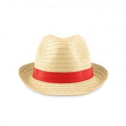 BOOGIE - Pălărie din paie naturale      MO9341-05, Rosu