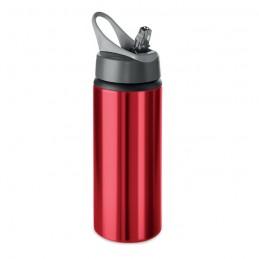 ATLANTA - Sticlă din aluminiu de 600 ml  MO9840-05, Rosu