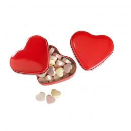 LOVEMINT - Cutie formă inimă cu bomboane  MO7234-05, Rosu