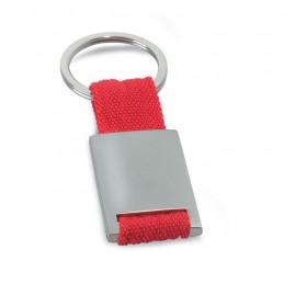 TECH - Breloc dreptunghiular metalic  IT3020-05, Rosu