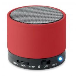 ROUND BASS - Boxă rotundă Bluetooth         MO8726-05, Rosu