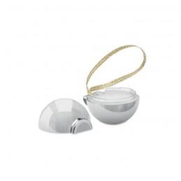 BAUBLEBAM - Balsam buze în glob de Crăciun CX1470-17, Shiny silver