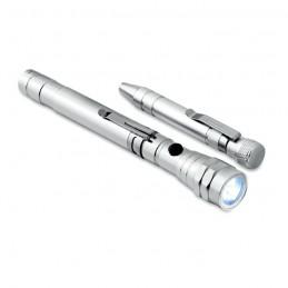 STRECH-TORCH SET - Set șurubelniță și lanternă    MO8873-14, Silver