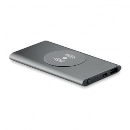POWER&WIRELESS -  Powerbank Wireless de 4000mAh MO9498-18, Titanium