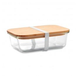 TUNDRA LUNCHBOX - Cutie de prânz, sticlă/bambus  MO9962-22, Transparent