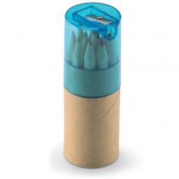 LAMBUT - 12 creioane colorate în tub    KC6230-23, Transparent blue