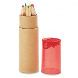 PETIT LAMBUT - 6 creioane în tub              MO8580-25, Transparent Rosu