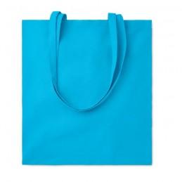 COTTONEL COLOUR + - Sacoşă cumpărături cu mânere   MO9268-12, Turquoise