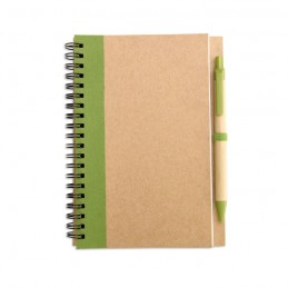 SONORA PLUS - Bloc notes reciclat și pix     IT3775-48, Lime