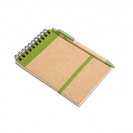 SONORA - Bloc notes reciclat și pix     IT3789-48, Lime