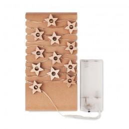 MILKY WAY - Șnur cu 20 steluțe luminoase   CX1462-40, Wood