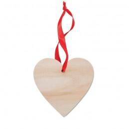 WOOHEART - Decorațiune inimă              MO9376-40, Wood