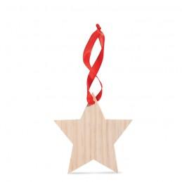 WOOSTAR - Ornament în formă de stea      CX1373-40, wood