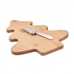 TREECHESSE - Set tocător brânză de bambus  CX1477-40, Wood