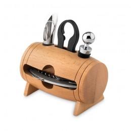 BOTA - Set pentru vin în stativ lemn  MO9523-40, Wood