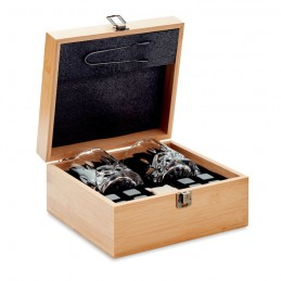 INVERNESS - Set pt whisky în cutie bambus  MO9941-40, Wood
